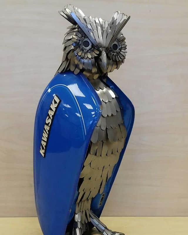 Artist Recycle Old Motorbike Parts Into Scrap Metal Animal Sculptures Steampunk Tendencies