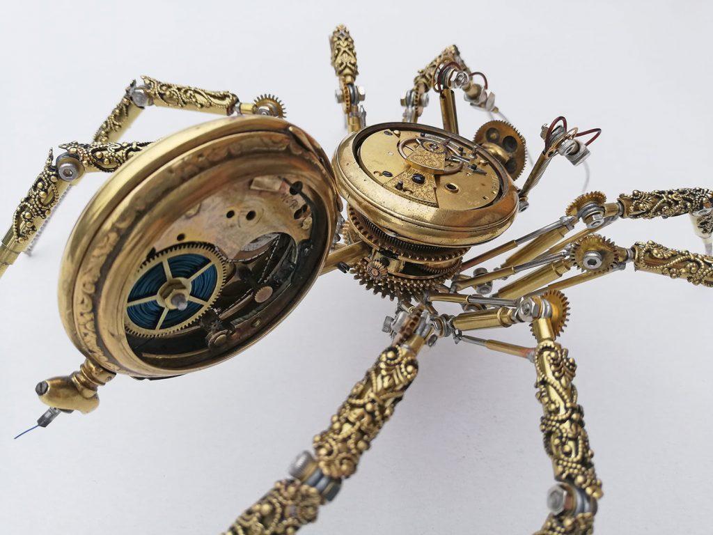 Amazing Steampunk Spider by Peter Szucsy